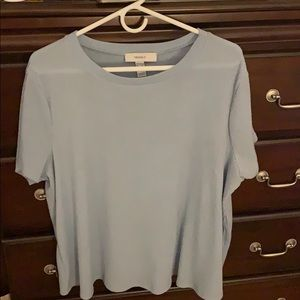 Forever 21 blue ribbed tee